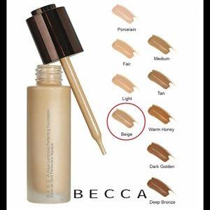 NEW! Becca aqua luminous perfecting foundation